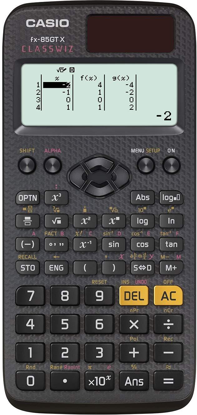 Casio FX-85GT X Black Solar Scientific Calculator
